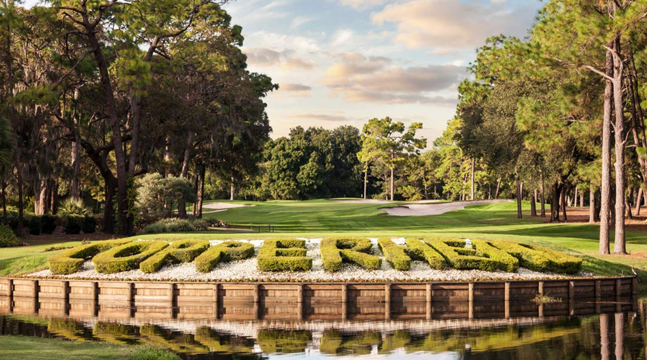 The intimidating 16th hole on the Copperhead course.