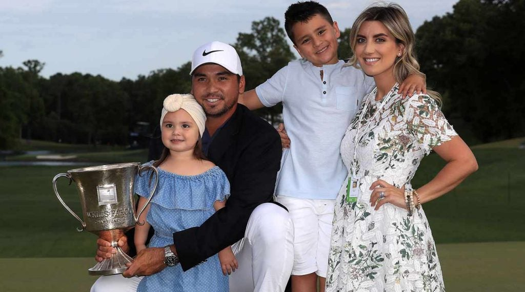 Jason Day with his wife, Ellie, and their kids, Dash and Lucy.