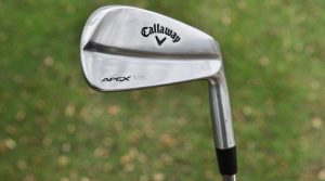 Francesco Molinari's Callaway Apex MB 18 irons were made in Japan.