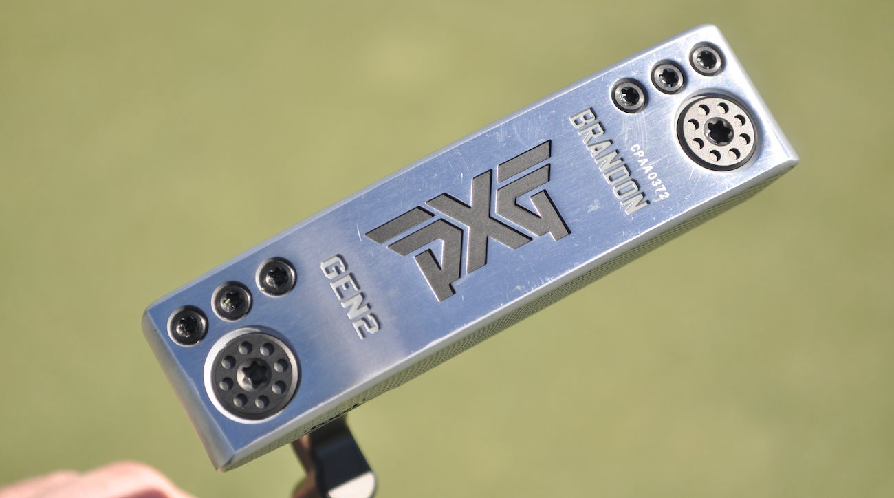 Ryan Moore switched to a shorter 32.5-inch PXG Brandon Prototype that allows his arms to hang freely at address.