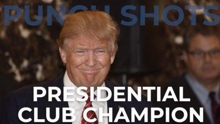 usa president donald trump golf