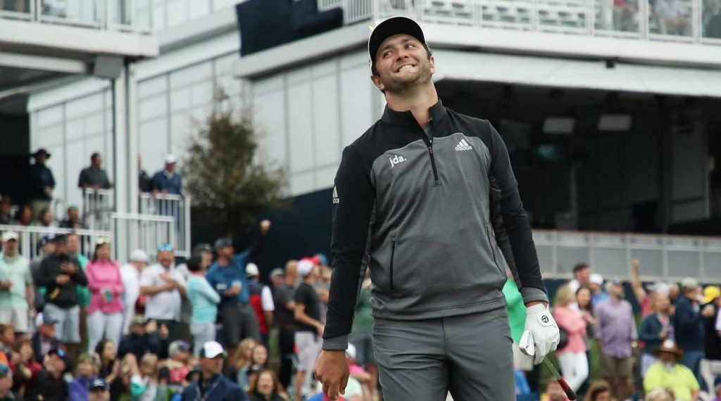 Jon Rahm charged into the lead on Saturday at the Players.