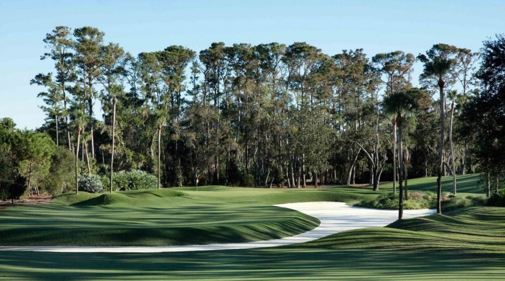 The par-4 10th hole on the Stadium Course at TPC Sawgrass.