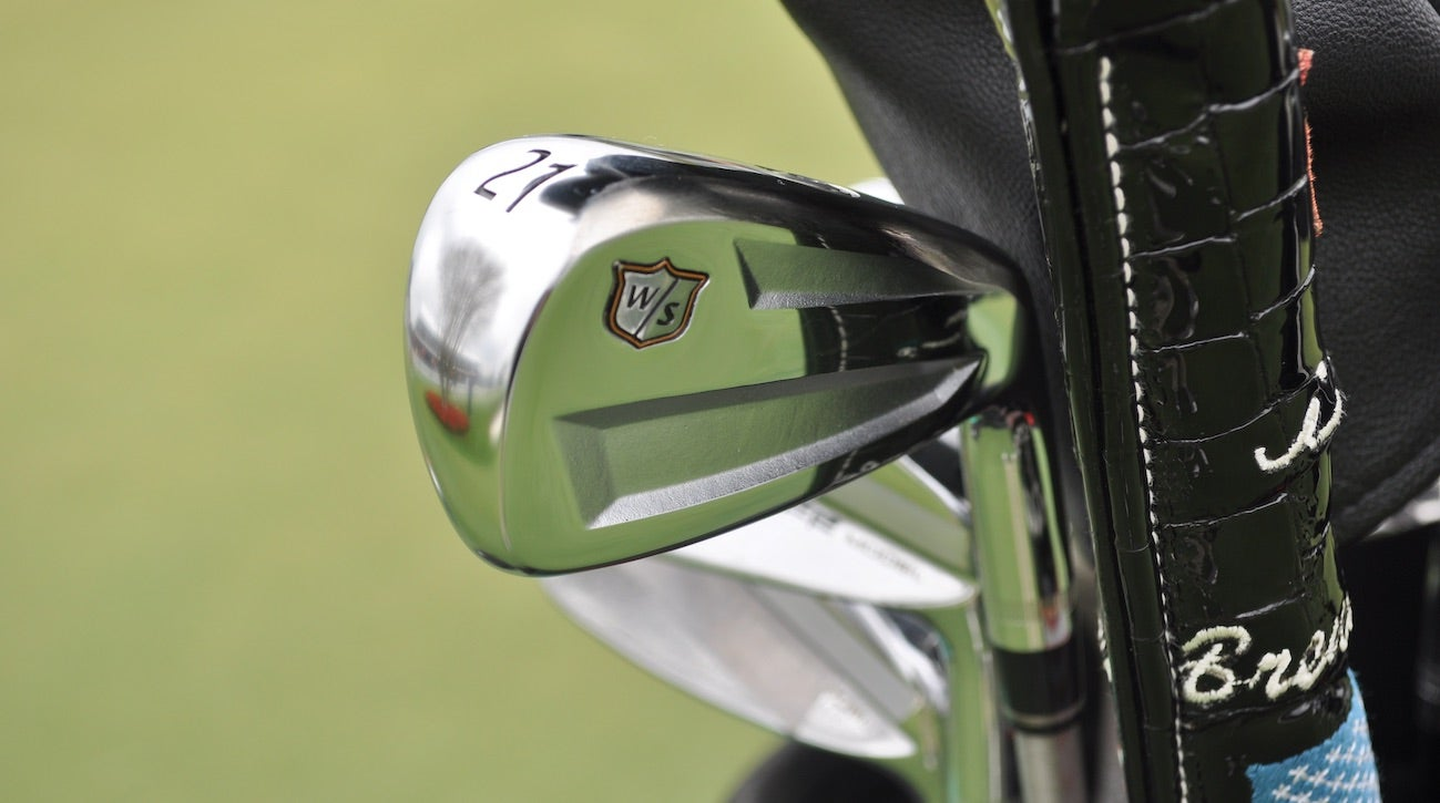 Brendan Steele offered feedback on Wilson's new prototype driving iron.