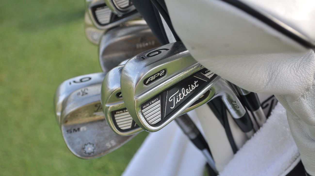 Steve Stricker is probably the only player on Tour still using Titleist's 710 AP2 irons.