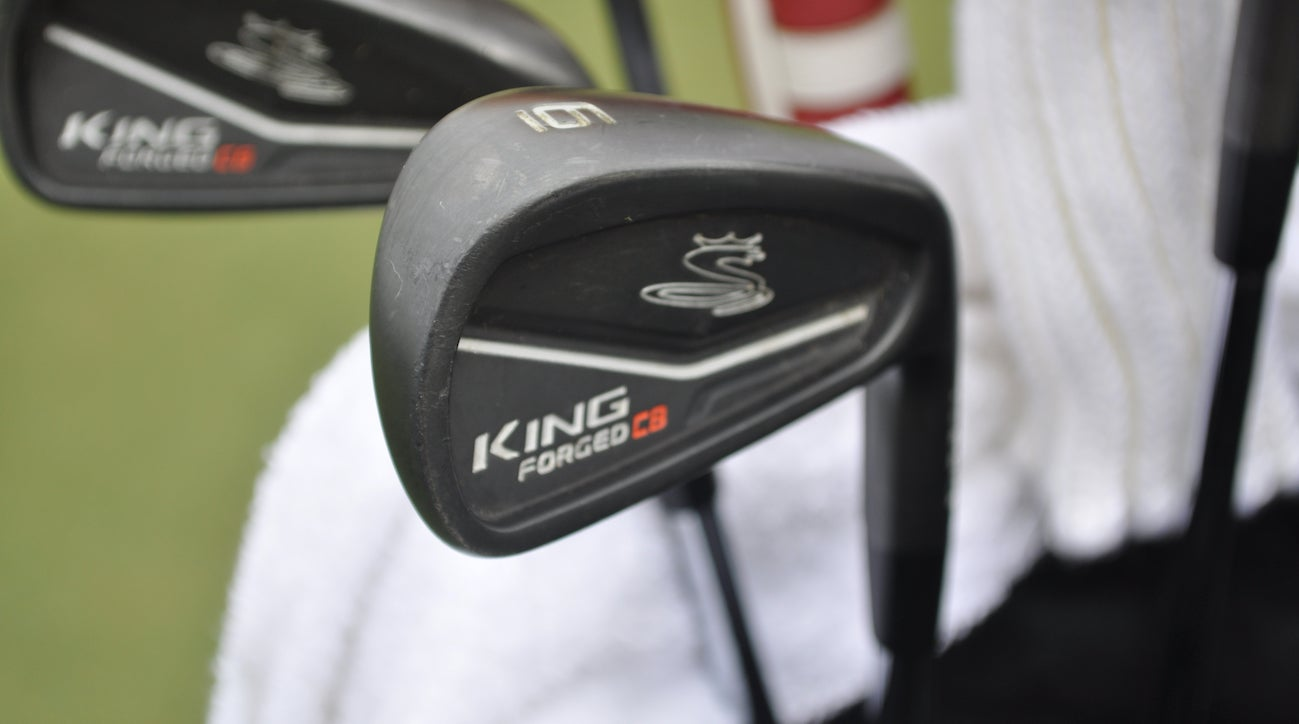 Equipment free agent Hudson Swafford is using Cobra's King Forged CB irons.