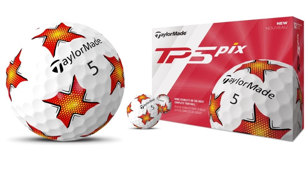 TaylorMade's TP5 ball is now offered with visual technology on the cover.