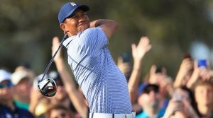 Tiger Woods is an infrequent sight in a tour van. But that changed on Monday.