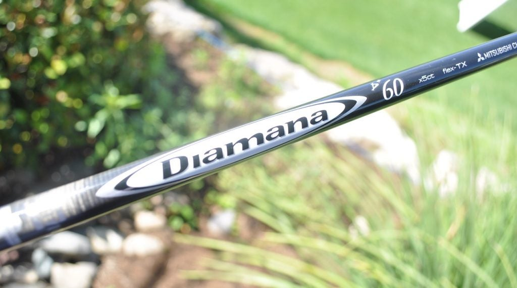 Tiger Woods switched to a lighter Mitsubishi Diamana D+ White Board driver shaft.