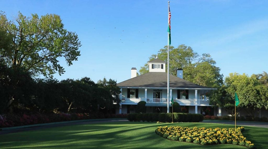 The clubhouse at Augusta National Golf Club.