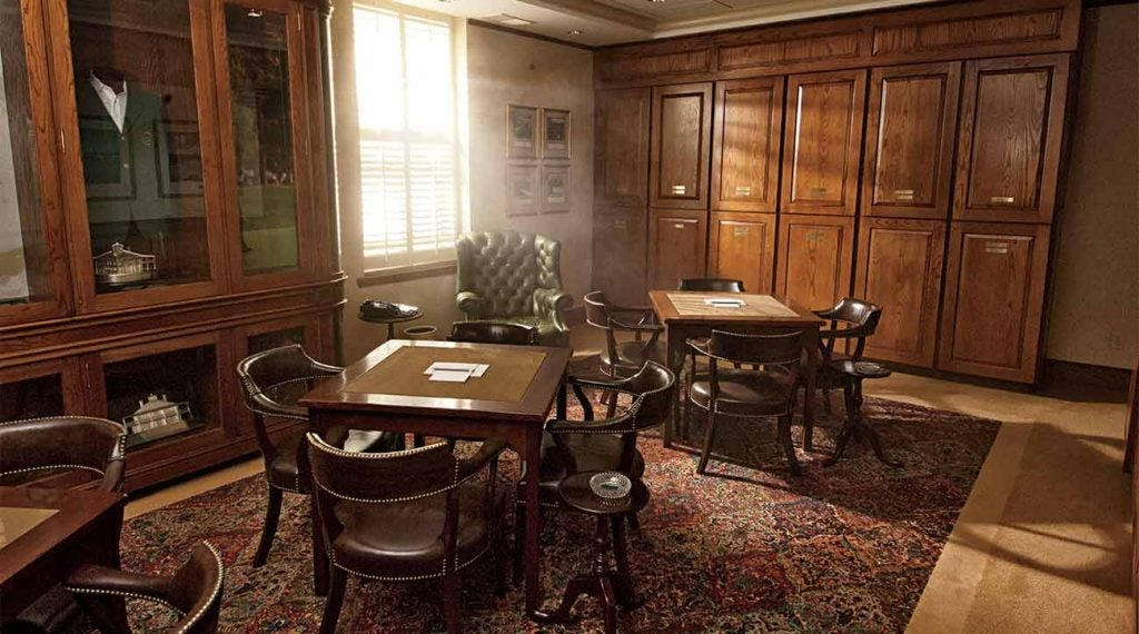 The Champions Locker Room in Augusta National's clubhouse.