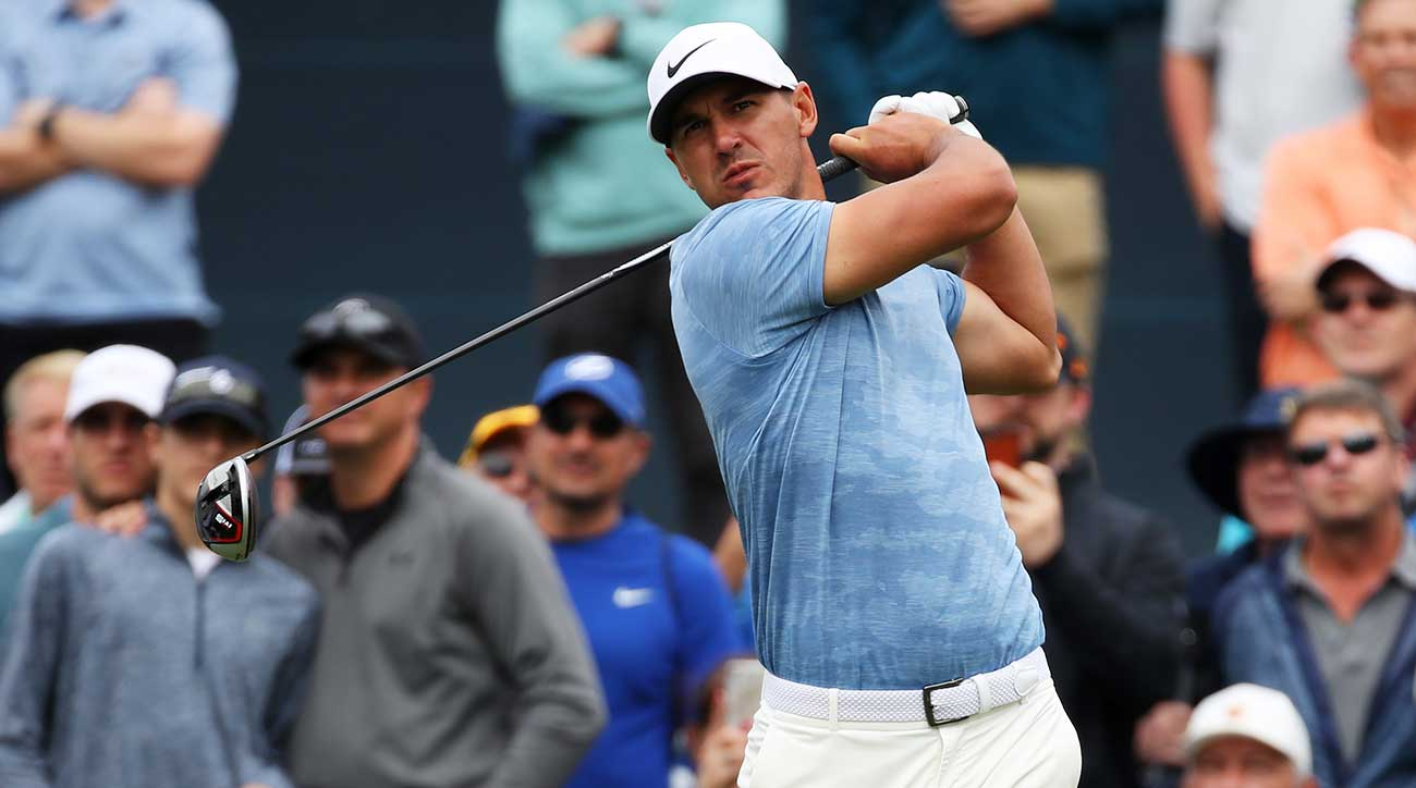 Brooks Koepka tees off at the Players.