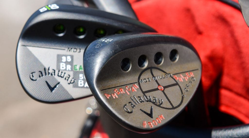 Custom wedge stamping is popular on the PGA Tour