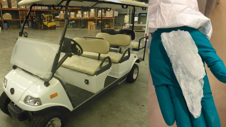 Golf cart batteries full of meth found by New Zealand customs