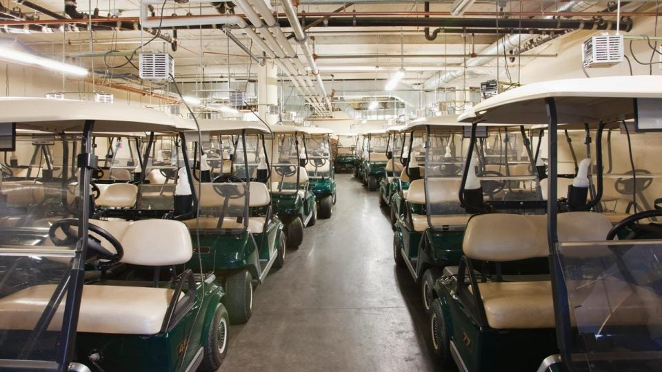 Golf carts like these ones have been stolen from The Cove Rotonda Golf Center in Florida.