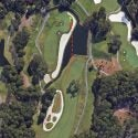 This Google Earth view of Jon Rahm's shot from the 11th hole on Sunday sums up how difficult it really was.