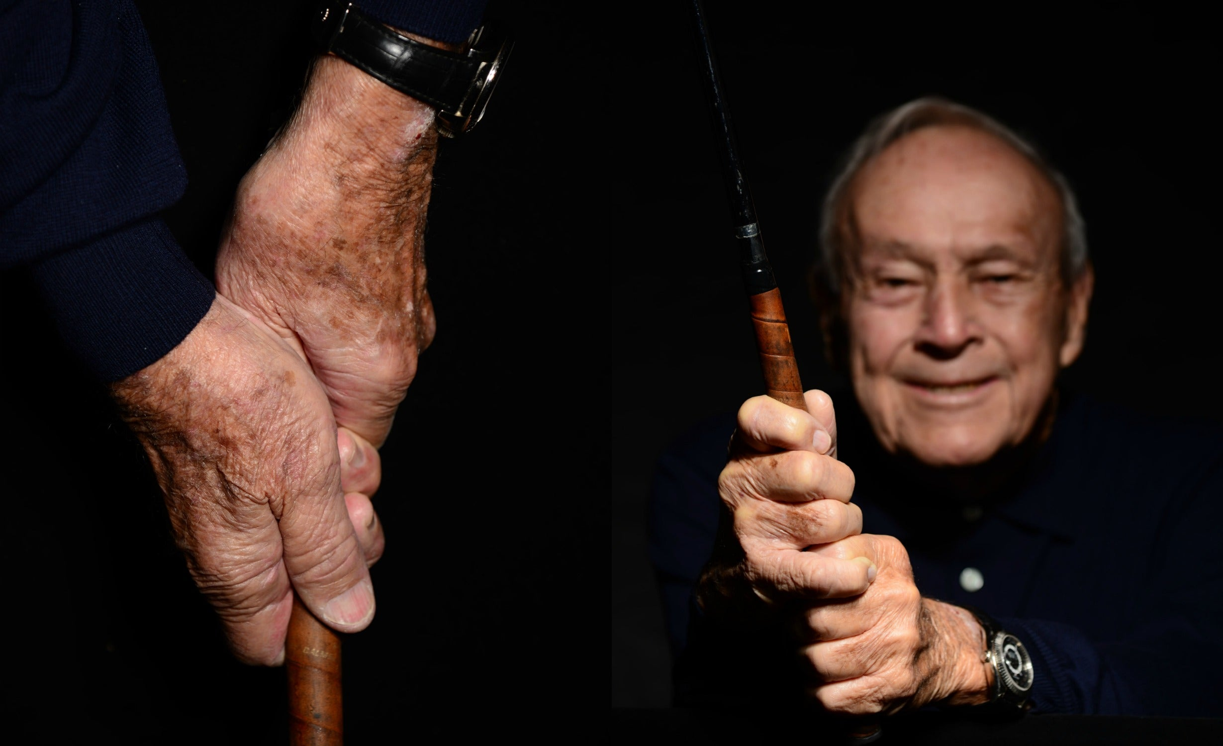 Arnold Palmer demonstrating an overlap grip
