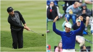 Eddie Pepperell and Jhonattan Vegas created some magic on Sunday on the 17th green.