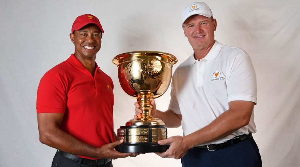 Presidents Cup standings: Tiger Woods and Ernie Els