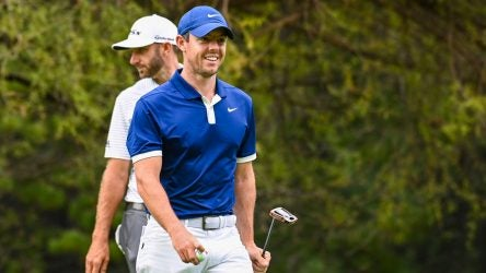 Rory McIlroy and Dustin Johnson pictured at the 2019 Players Championship