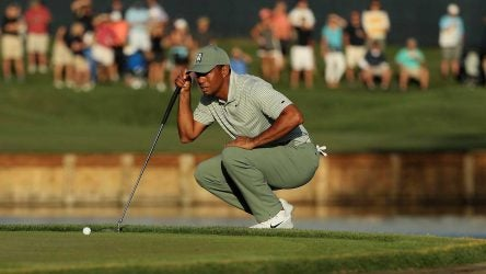 tiger woods second round