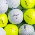 Yellow Titleist Pro V1 and Pro V1x golf balls