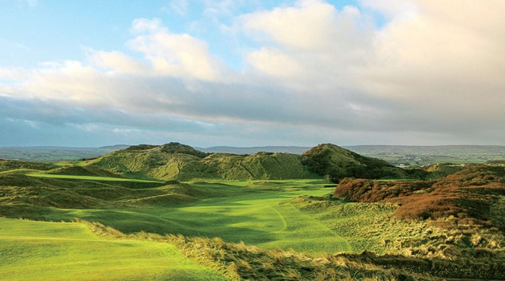 The opening tee at Portstewart in Northern Ireland.