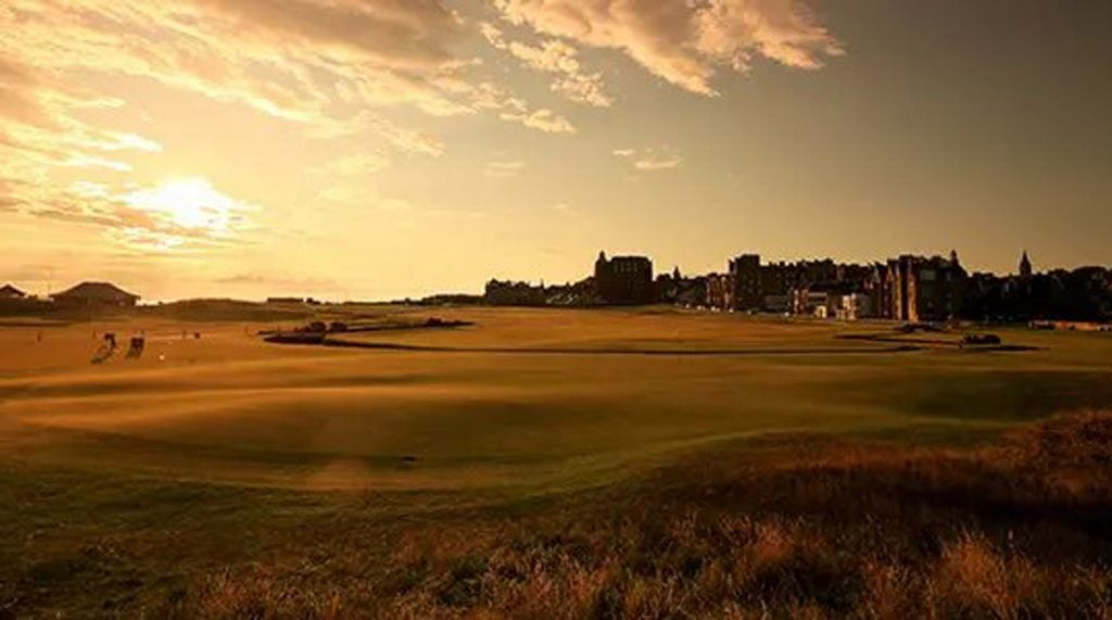 The first hole on the Old Course at St. Andrews.