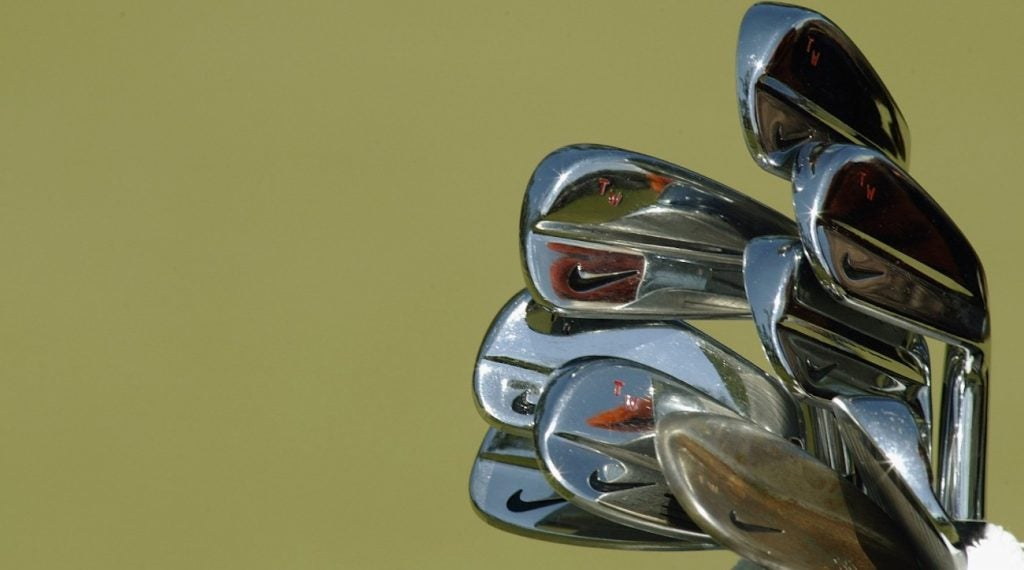 Tiger Woods' Nike Forged irons.