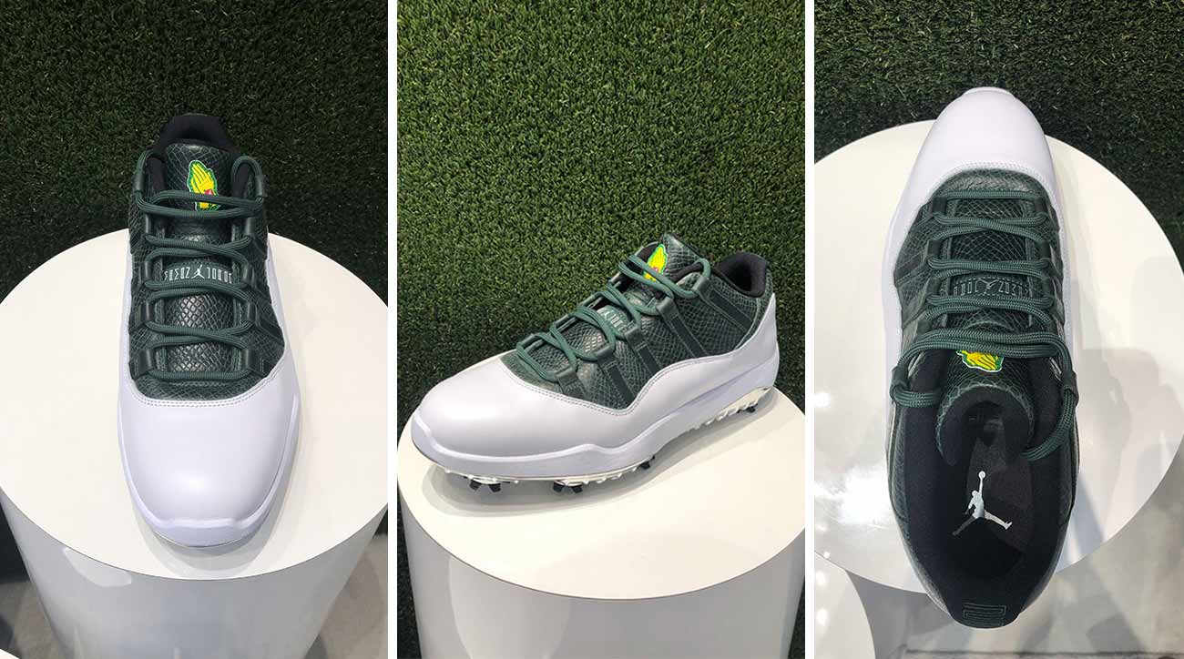 47b0ae5418a9 Brand-new Masters-themed Jordan XI golf shoes pay homage to Augusta National