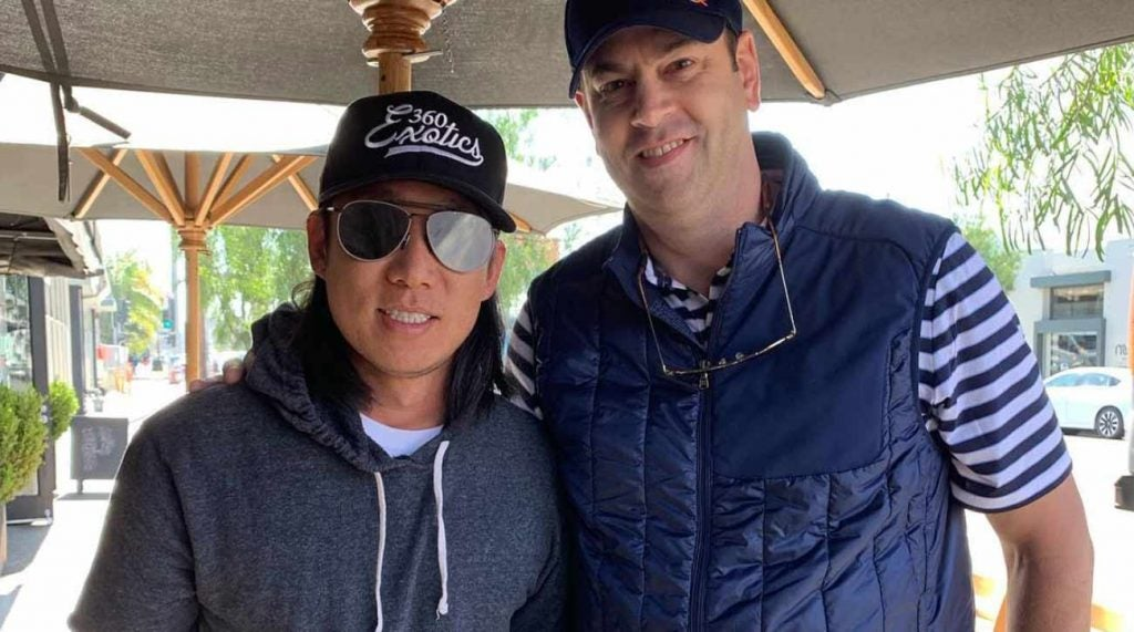 Anthony Kim surfaced in West Hollywood last week.