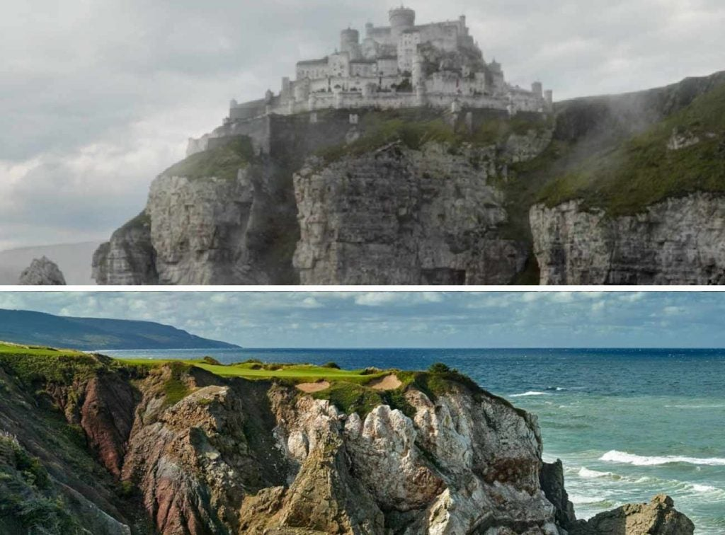 Casterly Rock and Cabot Cliffs have a strikingly similar aesthetic.