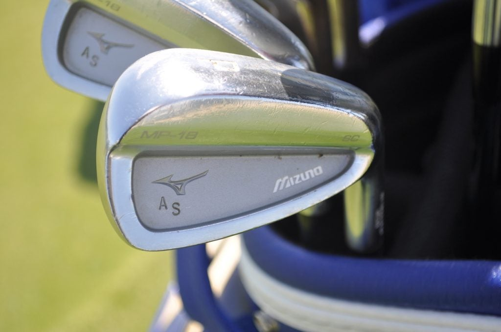Adam Schenk's initials can be found inside the cavity of MP-18 SC irons.