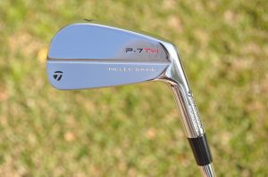 A look at the retail version of Tiger Woods' TaylorMade P7TW irons.