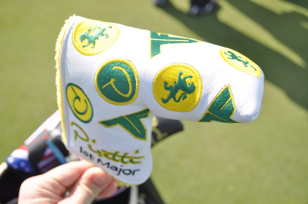 Piretti made Tony Finau a Masters-themed cover with his logo stitched on each side.