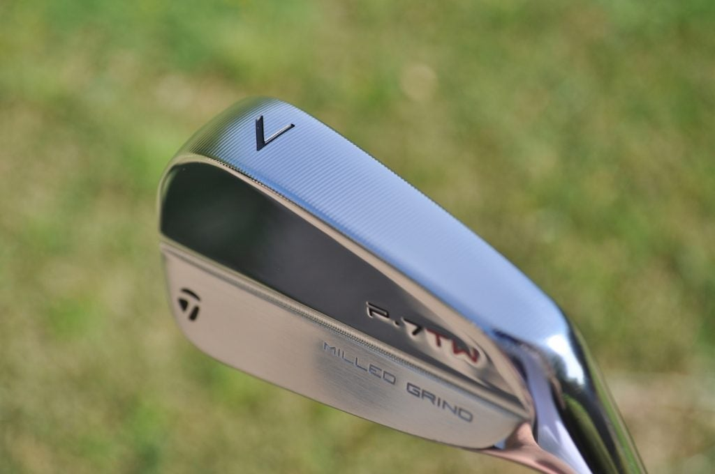 TaylorMade's P7TW irons are the first to incorporate the company's Milled Grind sole.