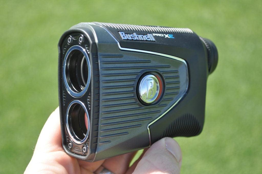Caddies were offered Bushnell's Pro XE rangefinder this week.