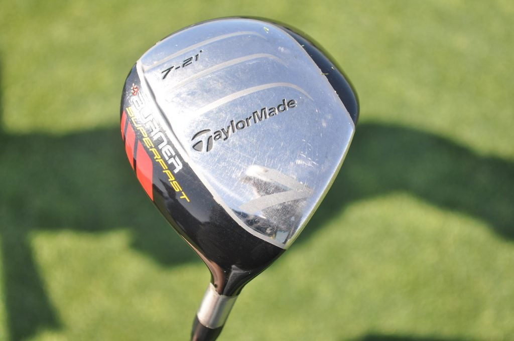 Vaughn Taylor still has a TaylorMade Burner Superfast 7-wood in the bag.