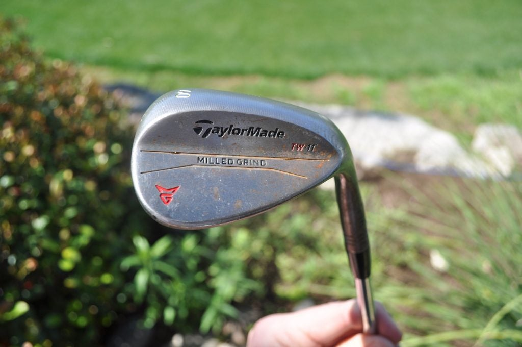 Tiger Woods' TaylorMade Milled Grind wedges.