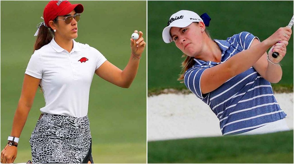 Maria Fassi (left) and Jennifer Kupcho (right) had a memorable final-round showdown during the Augusta National Women's Amateur.