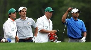 Francesco Molinari and Tiger Woods walked Augusta National together for the Masters in 2006.