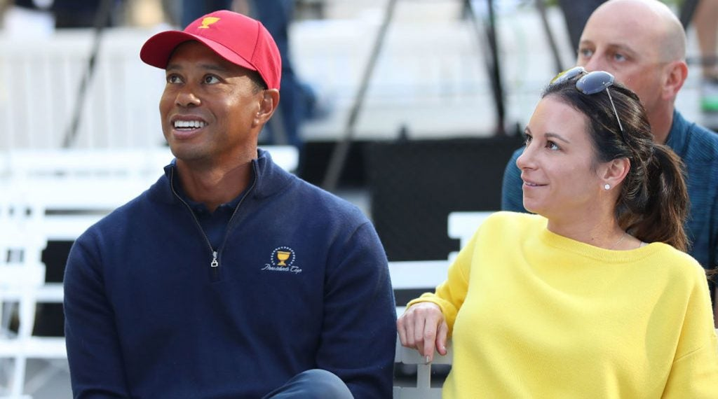 Tiger Woods and Erica Herman together at the Ryder Cup last year.