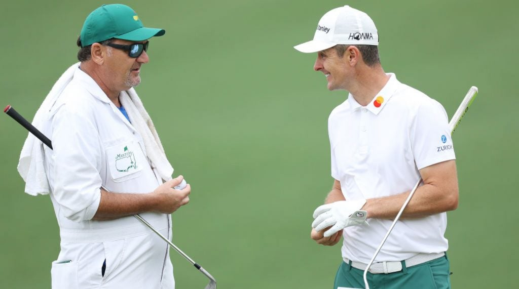 Justin Rose will have his normal caddie, Mark Fulcher, back on the bag at the Masters.