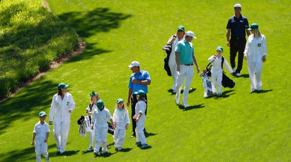 Charles Howell III, Brandt Snedeker, and Charley Hoffman with their families.