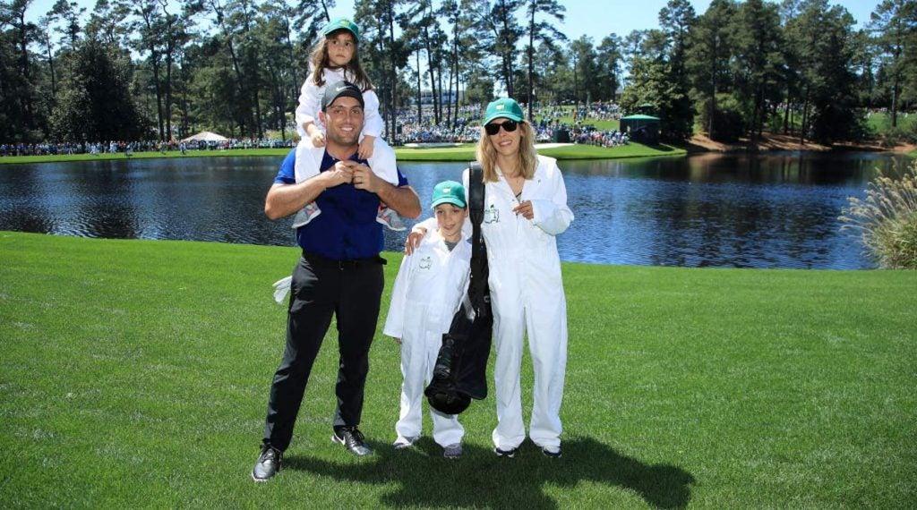 Francesco Molinari and his family
