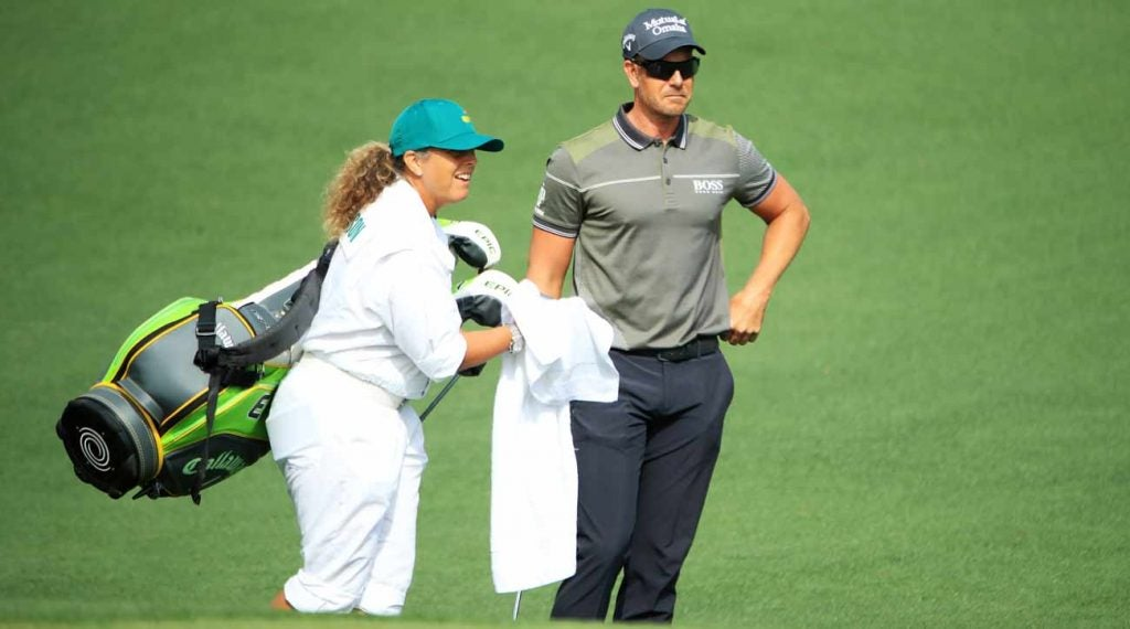 Henrik Stenson has enlisted Fanny Sunesson at the 2019 Masters.