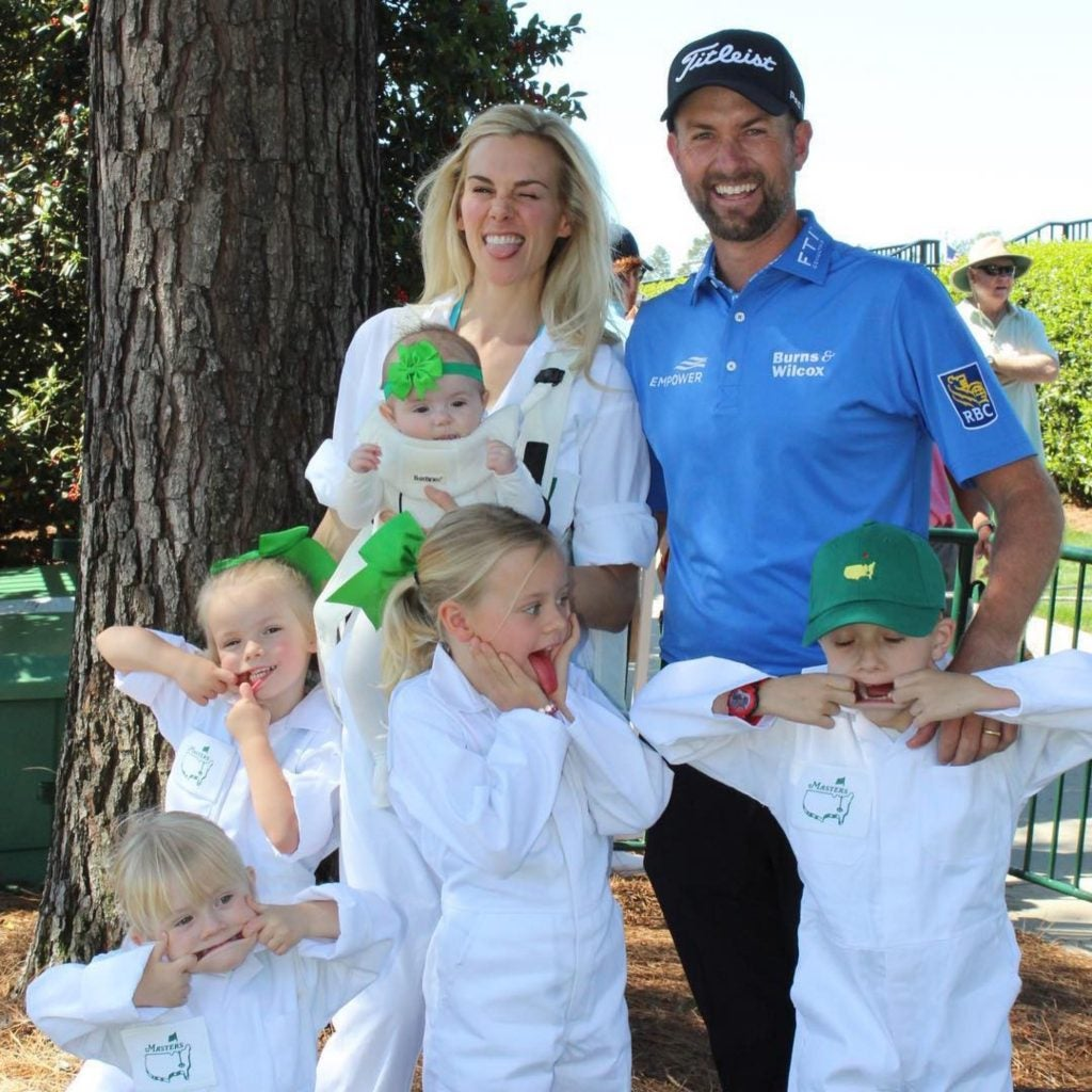 Webb Simpson and his family having some fun.