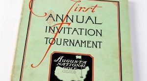 The first Augusta National Invitational program.