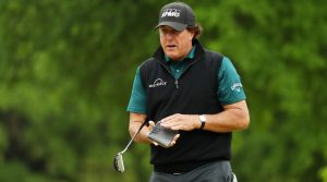 Phil Mickelson returned to Odyssey's Stroke Lab Nine putter.