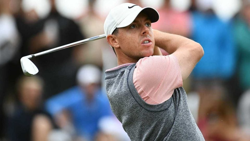 Rory McIlroy swings during the Arnold Palmer Invitational.